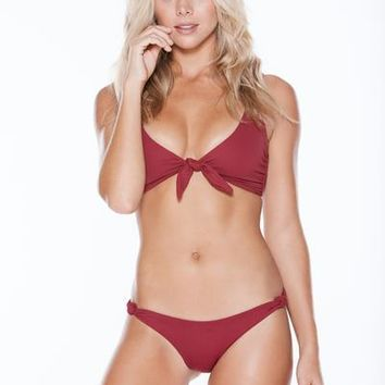 MGS - Knotty Top | Burgundy Rib
