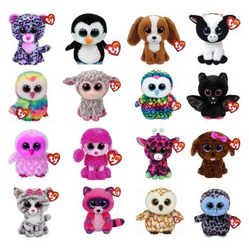 "Ty Beanie Boos Plush Animal Doll Unicorn Owl Giraffe Soft Stuffed Toys Penguin Bat Cat Dog With Tag 6"" 15cm"