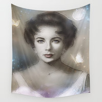 Cat on a Hot Tin Roof Wall Tapestry by SVA / Silvia V An