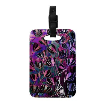 "Ebi Emporium ""Efflorescence - Mixed Berry"" Pink Purple Decorative Luggage Tag"