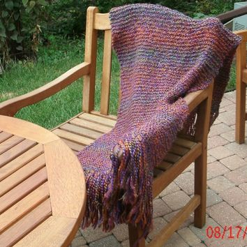 Hand Knit Shawl - Prayer Shawl - Wrap - 70  inches - Fall Accessories - Winter Accessories - Weddings - Prom