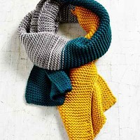 Colorblock Seed Stitch Scarf - Urban Outfitters