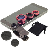 Universal 3 In 1 Clip-on Fish Eye Macro Wide Angle Mobile Phone Lens Camera kit for iPhone Samsung all phones