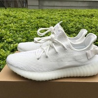 Best Online Sale Kanye West  x Adidas Yeezy 350 V2 Boost Triple White Sport Shoes  Running Shoes CP9366