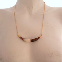 Rare Vintage Italian Lucite Horizontal Necklace