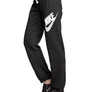 Nike Rally Women's Pants Black/Heather/Sail 545764-010 (SIZE: M)