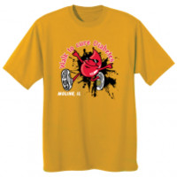 JuvenileDiabetesWalkStore.com |  2 Sided Gold JDRF T-Shirt