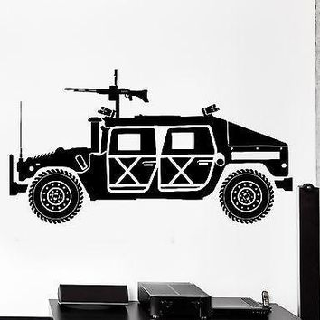 Wall Vinyl Armed Forces Land Vehicle Machine Gun Guaranteed Quality Decal Unique Gift z3426