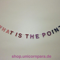 Pink/Purple Gradient What Is The Point Mini by UnicornParadeShop