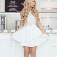 Anastasia Lace Fit and Flare Dress
