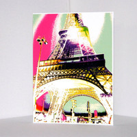 Eiffel Tower Multi-colored Card/s