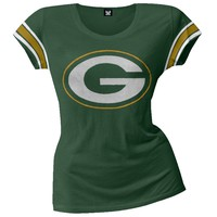 Green Bay Packers - Off Campus Juniors Premium Scoop T-Shirt