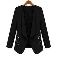 New Women Ladies OL Blazer Casual Suit Business Outerwear Long SleveeCoat