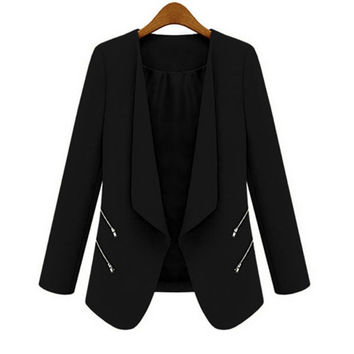 2017 Women OL Long Sleeve Slim Lapel Blazer Suits Jackets Casual Open Coats Blazers Outwear Terno 3 Colors D316