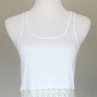 Sammi Crochet Trim Crop Top from Shop Gracie