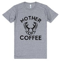 mother of coffee game of thrones parody shirt | Athletic T-shirt | SKREENED