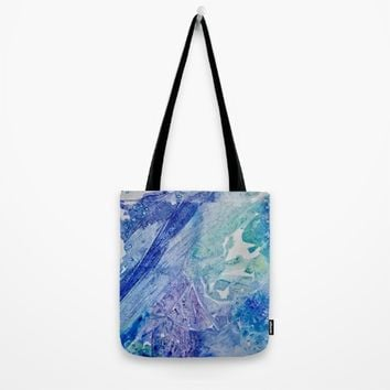 Water Scarab Fossil Under the Ocean, Environmental Tote Bag by ANoelleJay