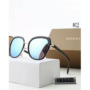 Gucci 2018 new female polarizer frame color sunglasses F-A-SDYJ