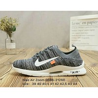 Nike Air Zoom & off-white teamed up with the new summer men's running shoes F-A36H-MY Grey