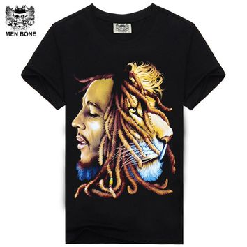 2015 High Quality BOB MARLEY t shirts Trend Print Custom REGGEA Design For Man Tees Vintage Rock T-shirts Long For Freedom