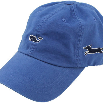 Whale Logo Baseball Hat in Royal Blue by Vineyard Vines, Also Featuring Longshanks the Fox