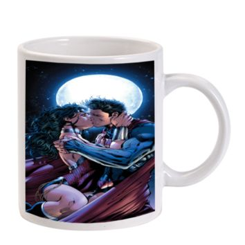 Gift Mugs | Superman Wonder Woman Kiss Super Heroes Ceramic Coffee Mugs