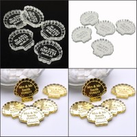 50 pieces Personalized Shell Beach Wedding Decorations