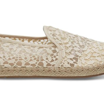 NATURAL LACE LEAVES WOMEN'S DECONSTRUCTED ALPARGATAS