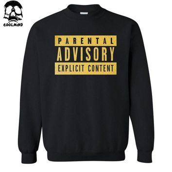 """Parental Advisory Explicit Content"" Sweatshirt Long Length Hoodies"