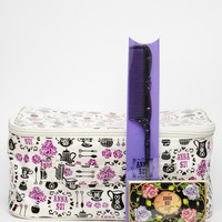 Anna Sui ASOS Exclusive Tea Party Make Up Bag with Hair Comb & Blotting Paper at asos.com