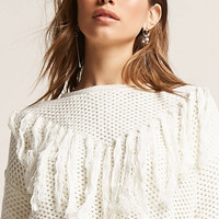 Tassel Honeycomb Knit Sweater