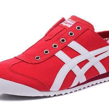 asics japan onitsuka tiger red white unisex running shoes sneakers trainers  number 1