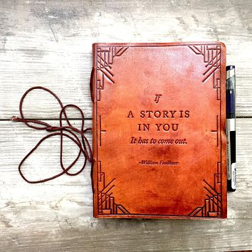 """PRE ORDER """"If A Story"""" Handmade Leather Journal"""