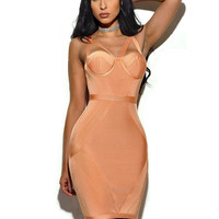 Karlie Cleavage Cutout Detail Bandage Dress