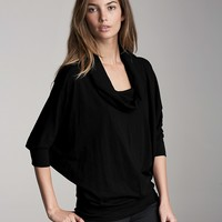 "Velvet by Graham & Spencer ""Kennet"" Winter Slub Cowlneck Top"