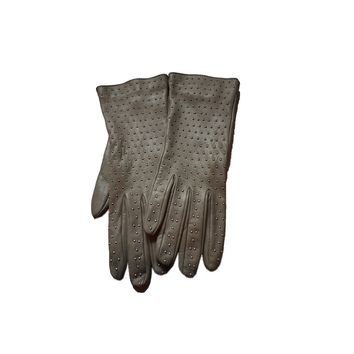 Gucci Women's Gray Studded Riding Gloves 370648