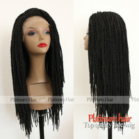 synthetic braided lace front wigs-