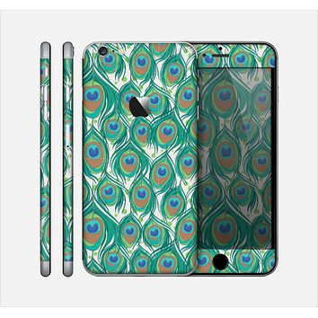 The Peacock Green Feather Bundle Skin for the Apple iPhone 6 Plus