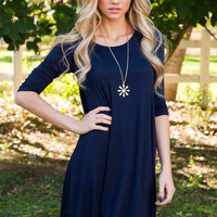 Willamina Dress in Navy