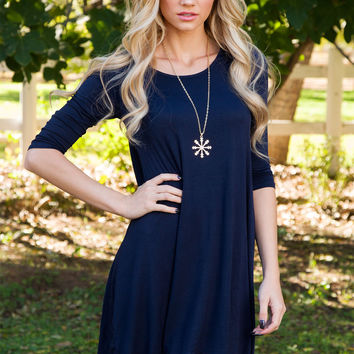 Willamina Dress - Navy