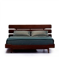 Bamboo Mid-century Modern California Platform Bed - Dark Chocolate (491563571), Eco Friendly Furniture | Reclaimed Wood Furniture | Natural Home Furniture