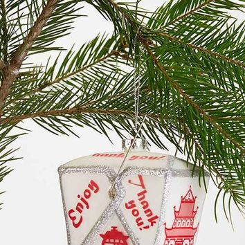 Takeout Container Ornament - White One