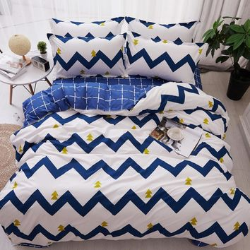 Cool 4pcs/set bedspreads Quilted Quilt 2pcs Pillowcase King Queen Twin Full Size Duvet Cover Air Conditioner BlanketAT_93_12