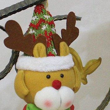 Christmas Decor Reindeer Hanging Doll Pendant Best Gift