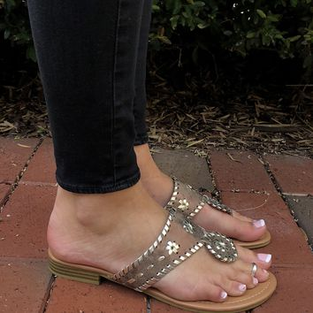 Jack Inspired Sandals - Bronze/Gold