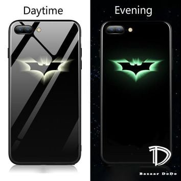 DC Superhero Luminous Glass Case For iphone