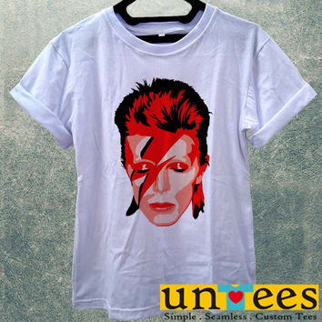 Low Price Women's Adult T-Shirt - Ziggy Stardust David Bowie design