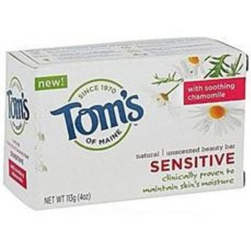 Tom's Of Maine Sensitive Natural Beauty Bar Soap (6x4oz)