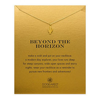 "Dogeared Gold Dipped Beyond The Horizon Cactus 16"" Boxed Necklace"