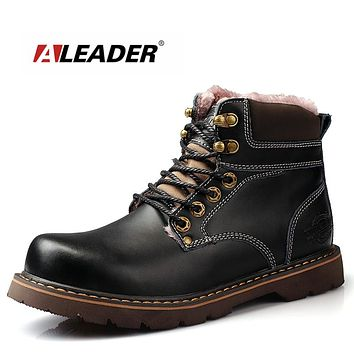 New High Quality Snow Boots Men Waterproof Work Boots Rubber Outdoor Mens Shoes Casual Black Combat Boots For Men Botas